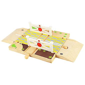 Bigjigs Rail Wooden Level Crossing Track Road Railway Accessories Playset