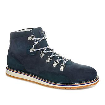 Mens Helly Hansen Kloster Boot In Blue- Lace Fastening- D-Ring Eyelets- Padded