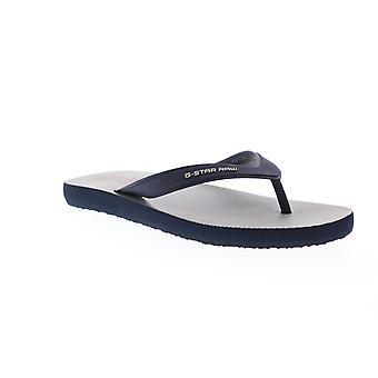G-Star rå dend Hickory AOP Herre blå Thong slip på klip-klapper sandaler sko