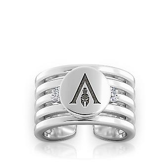 Assassin 's Creed Odyssey Logo Engraved Multiband Cuff Ring