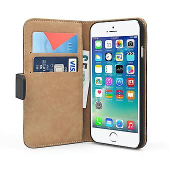 Caseflex iPhone 6 and 6s Real Leather Wallet Case Black
