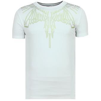 Eagle Glitter-Tight T shirt men-6359W-White