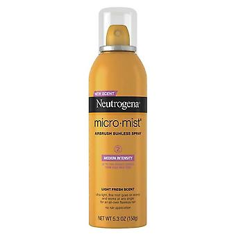 Neutrogena sunless tanning spray micro mist, medium, 5.3 oz