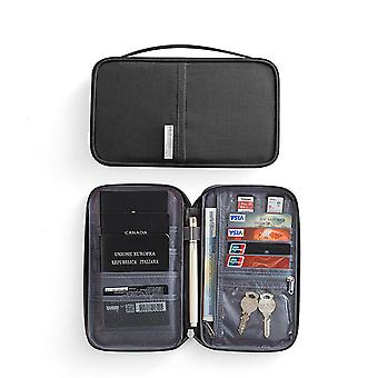 RFID Protection-Black Universal Travel wallet Passport case
