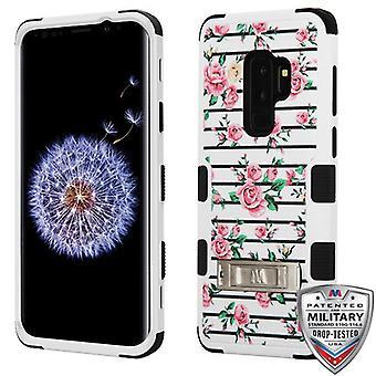 MYBAT Pink Fresh Roses/Black TUFF Hybrid Phone Protector Cover  for Galaxy S9 Plus