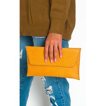 IKRUSH Womens Tilda imiteret læder konvolut kobling taske
