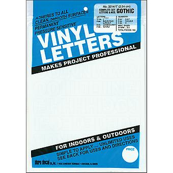 Permanent Adhesive Vinyl Letters & Numbers 1