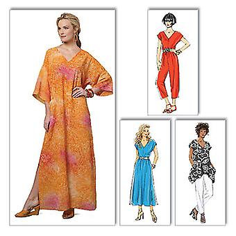 Misses' Top, Dress, Caftan, Jumpsuit And Pants  Y Xsm  Sml  Med Pattern B5652  0Y0