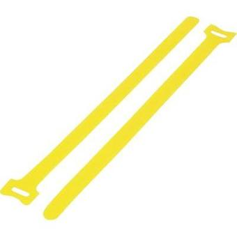 Hook-and-loop cable tie for bundling Hook and loop pad (L x W) 210 mm x 16 mm Yellow KSS MGT-210YW 1 pc(s)