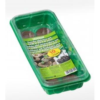 Stocker garden Tray Mini Greenhouse With Pills coir