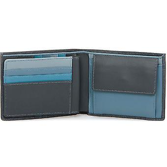 Mywalit Grey & Blue Large Mens Wallet