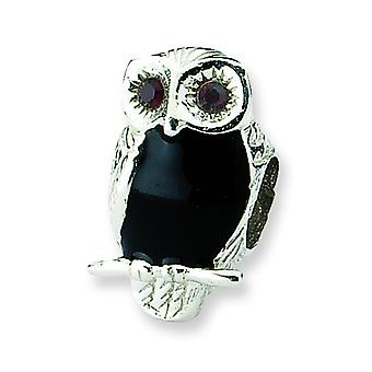 Sterling Silver Reflections Enameled Wise Owl Bead Charm