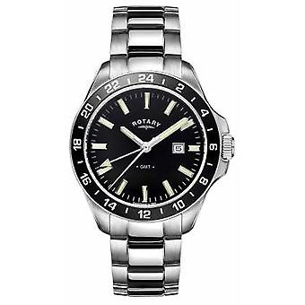 Rotary Mens Havana Stainless Steel GMT GB05017/04 Watch