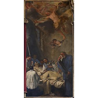 Death Of St Lorenzo Giustiniani Poster Print