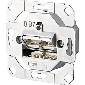 Network outlet Flush mount Insert CAT 6A 2 ports M