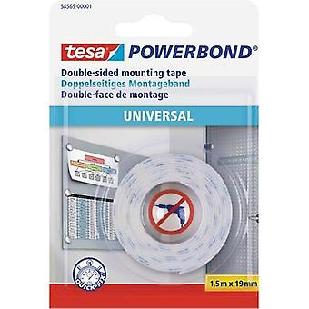 Double sided adhesive tape tesa White (L x W) 1.5 m x 19 mm Content: 1 Rolls