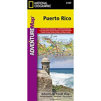 Puerto Rico adv. ng wp (Adventure Map (Numbered)) (Map) by National Geographic Maps