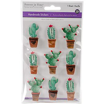 MultiCraft Handmade 3D Big Icon Stickers-Cactus SS802-P