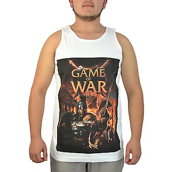 Game Of War Graphic Men's Blue T-Shirt