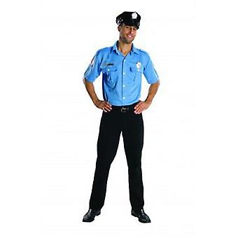 Rubie's Police Costume Shirt With Adult Cap (Costumes)
