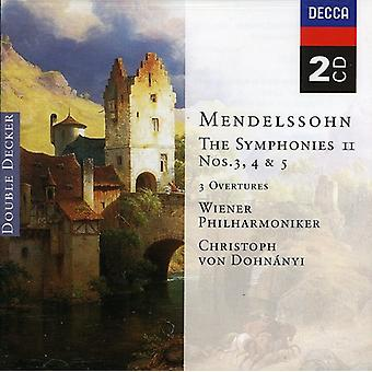 Dohnanyi/Vienna Philharmonic Orch. - Mendelssohn: The Symphonies, Vol.2 [CD] USA import