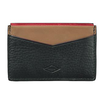 FOSSILA mäns kreditkort innehavaren kortinnehavaren leather case Black 4103