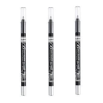 Barry M X 3 M Barry grassetto Eyeliner Waterproof argento