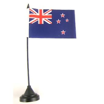 New Zealand Table Flag with Stick and Base