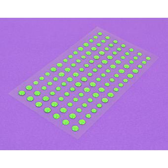 105 Papermania Neon Green Adhesive Gems | Diamante Gemstones Embellishments