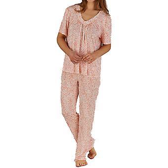 Pijama de manga corta Jersey impresión Animal Slenderella Rosa Set PJ5138