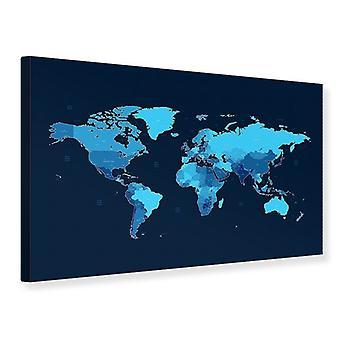 Lærred Print verdenskort