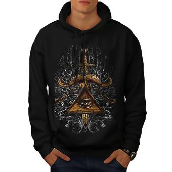 Triangle Society Men BlackHoodie | Wellcoda