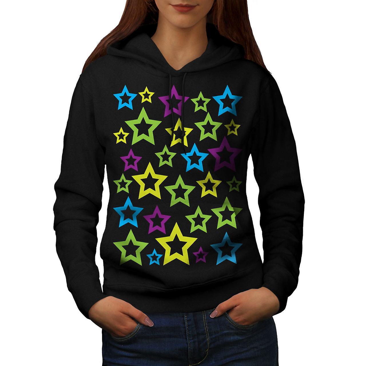 Étoiles forme tendance femmes noirHoodie