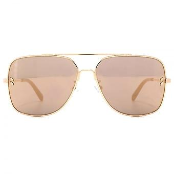 Stella McCartney Vintage Square Pilot Sunglasses In Gold Mirror