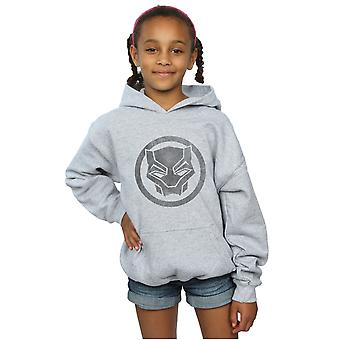 Marvel Mädchen Black Panther Distressed Icon-Kapuzenpulli