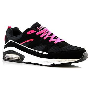Ladies Womens Air Tech Gym Jogging Running Lace Up Trainers Shoes