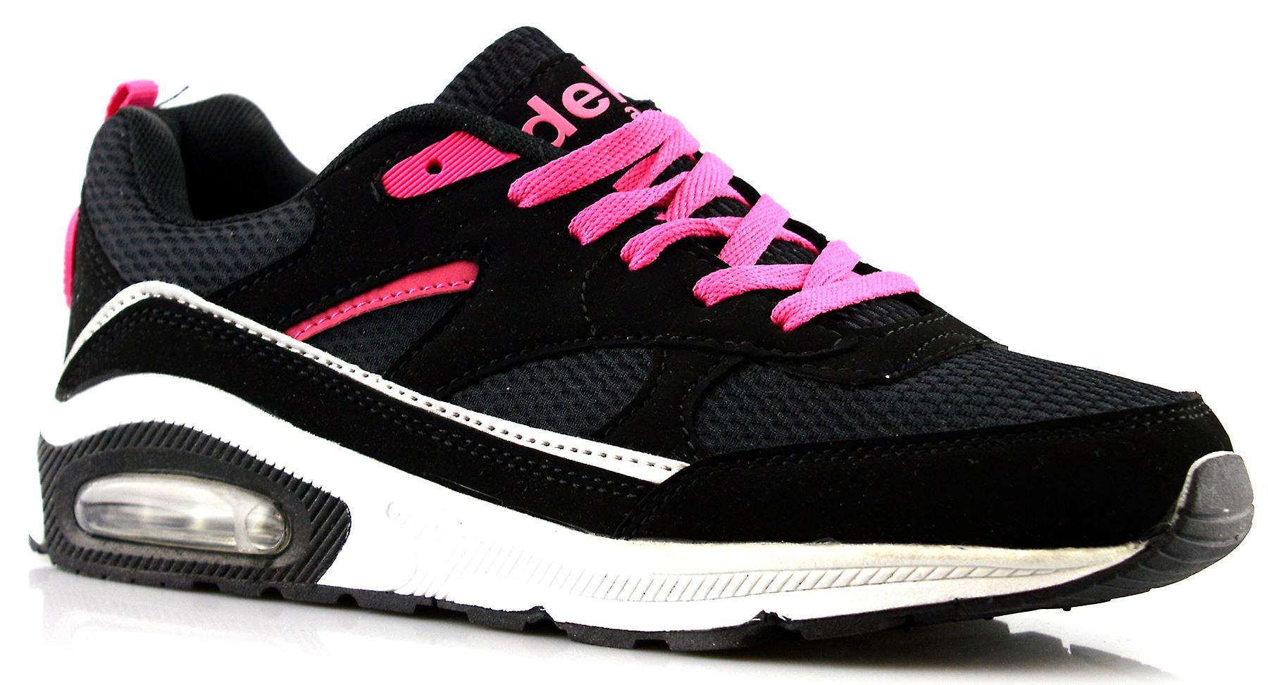 Tech Womens Ladies Gym Up Shoes Trainers Running Lace Air Jogging afFq4FHw