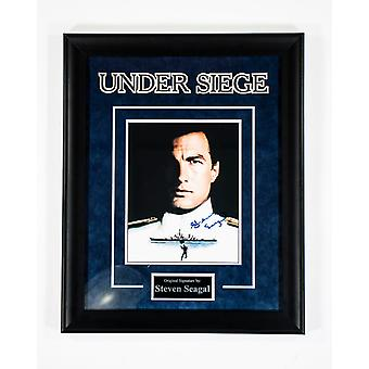 Under Siege- Signed by Steven Segal - Framed Artist Series