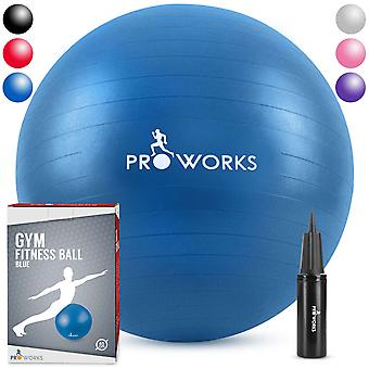 Anti-Burst Exercise Ball 65cm Heavy Duty With Pump - Blue