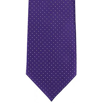 Michelsons of London Micro Dot Polyester Tie - Purple