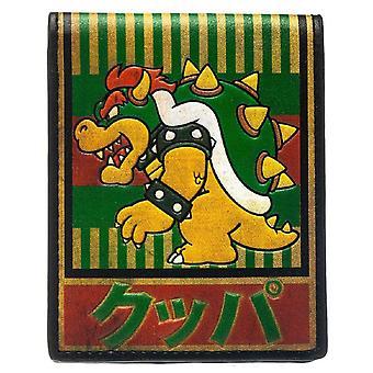 Nintendo Wallet Bowser Kanji Super Mario gamer Official New Bifold