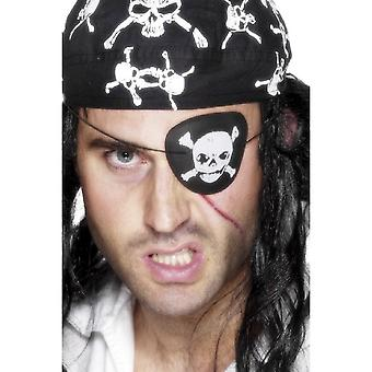 Smiffys Pirate Eyepatch With Skull & Crossbones