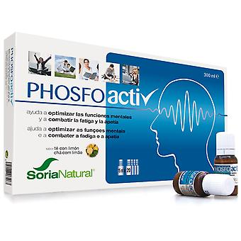 Soria Natural Phosfoactiv 20 Vials 15 ml Helps To Fight Tiredness