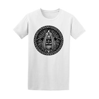 Norse God Odin With Crow Graphic Tee Men's -Image by Shutterstock