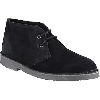Cotswold Mens Sahara Lace Up Suede Leather Lined Desert Boot Black