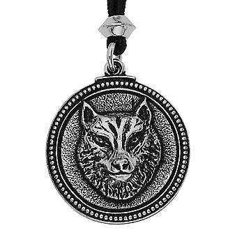 Handmade Wolf Sacred Totem Pewter Pendant ~ Teacher, Pathfinder ~ 36 inch Black Cord