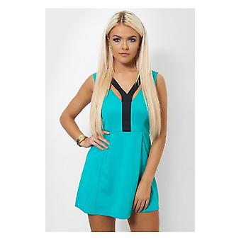 The Fashion Bible Uma Green Strappy Mini Dress