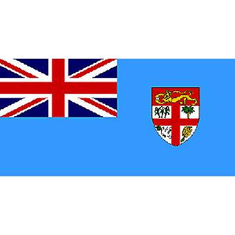 Fiji vlag 5 ft x 3 ft met oogjes voor verkeerd-om