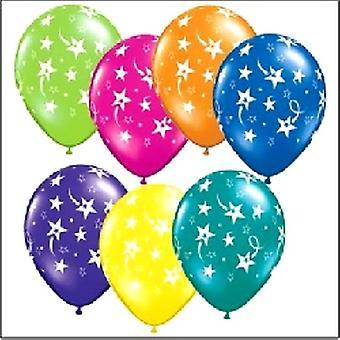 Balloner stjerneskud assorterede farver 12