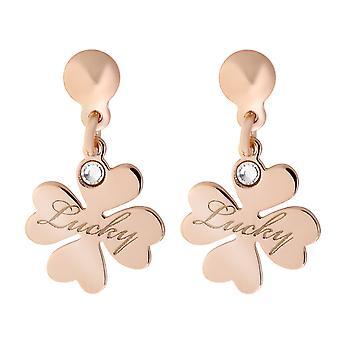 Orphelia Silver 925 Earring Rosegold Charm Lucky Zirc  ZO-7186/RG